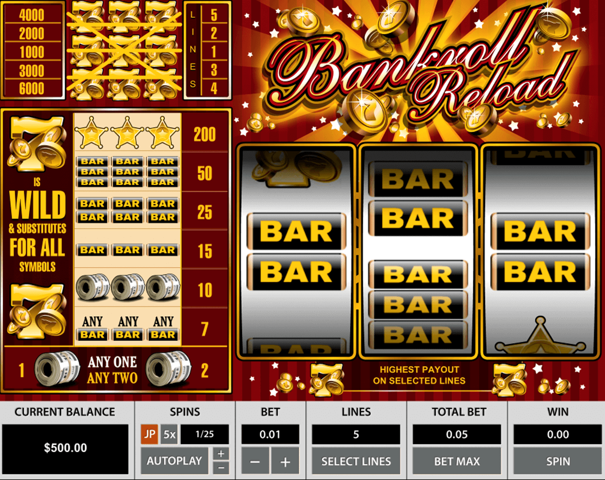 bankroll reload pragmatic slot