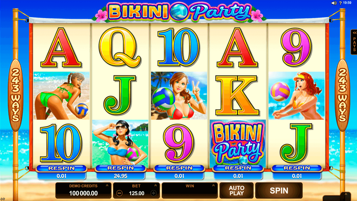 bikini party microgaming slot