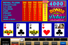 bonus poker delue microgaming