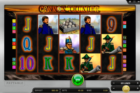 cannon thunder merkur slot