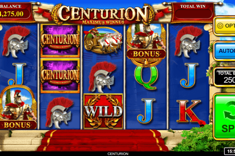centurion inspired gaming slot