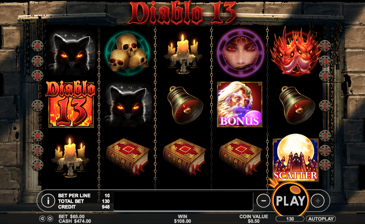 diablo 13 pragmatic slot