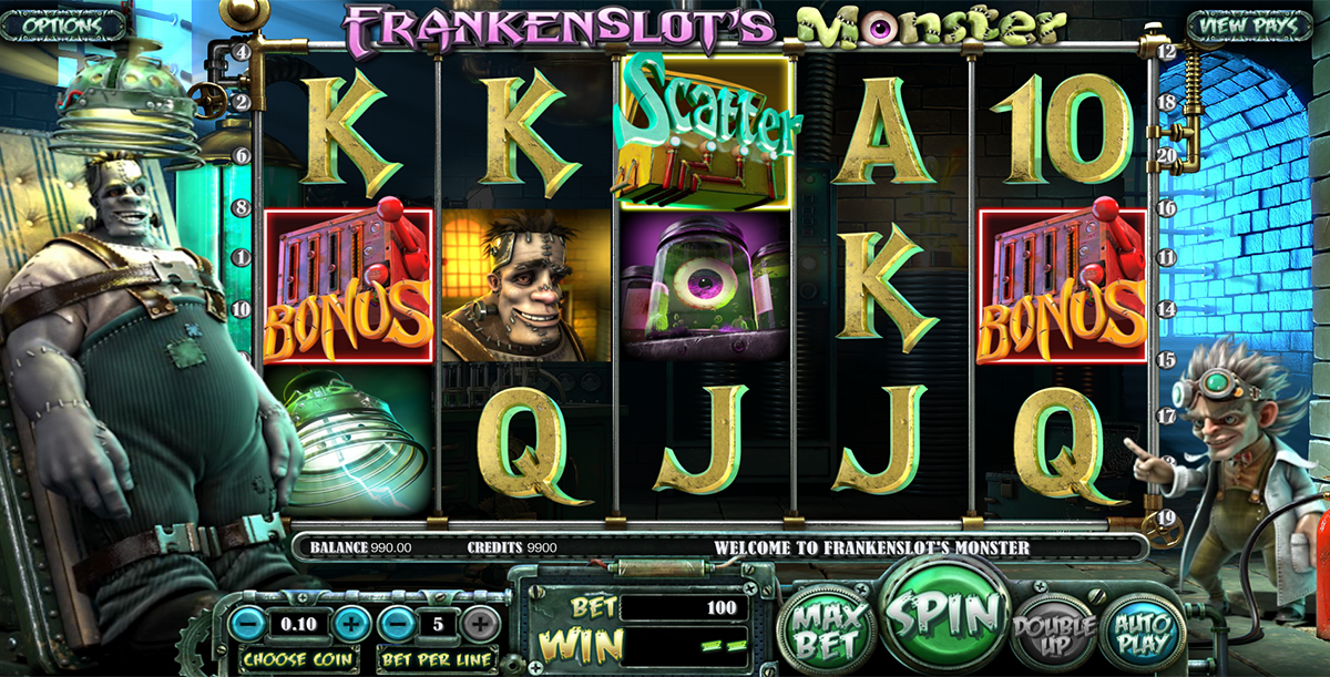 frankenslots monster betsoft slot