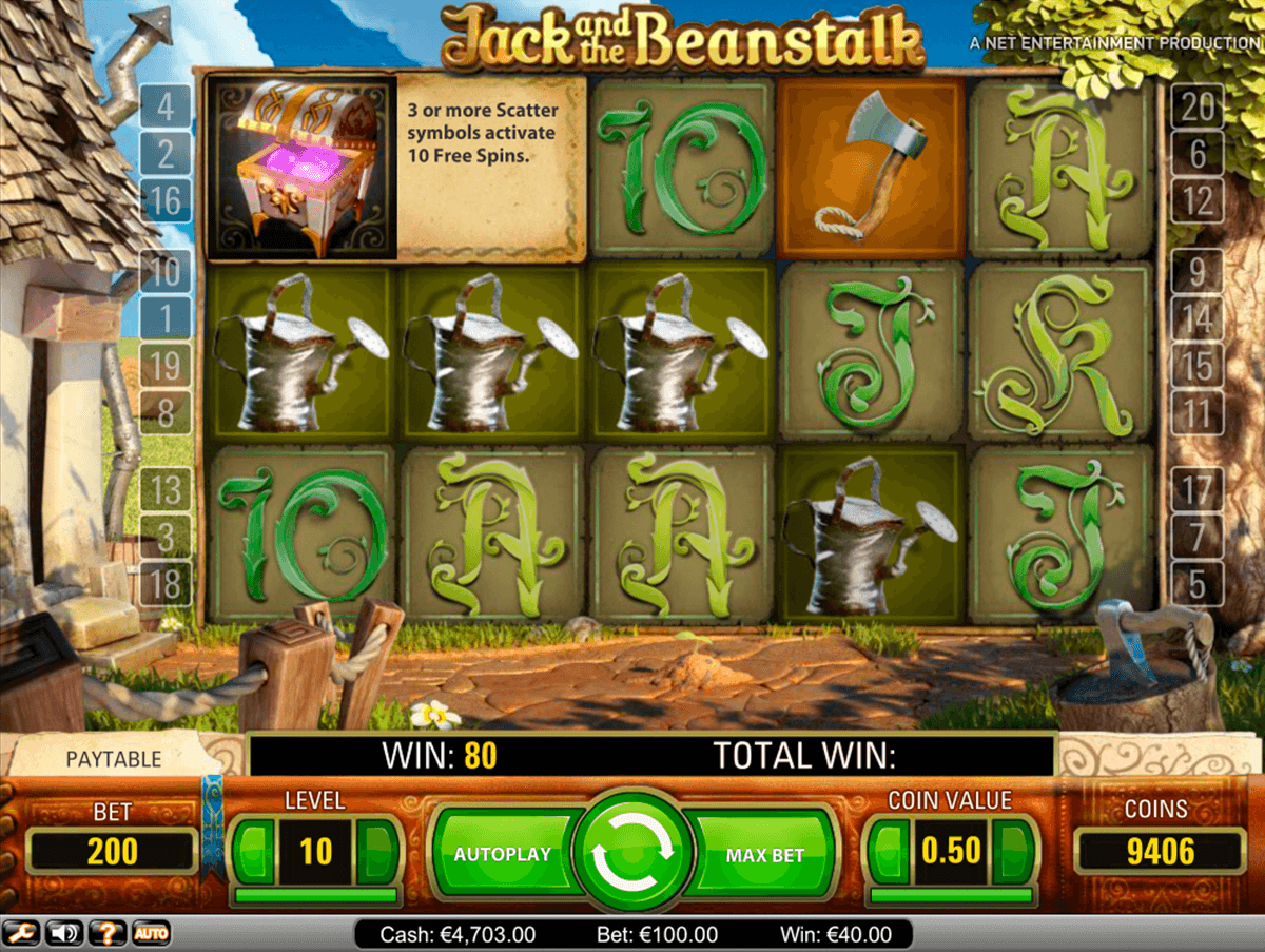 jack and the beanstalk netent slot