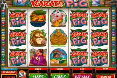 karate pig microgaming slot