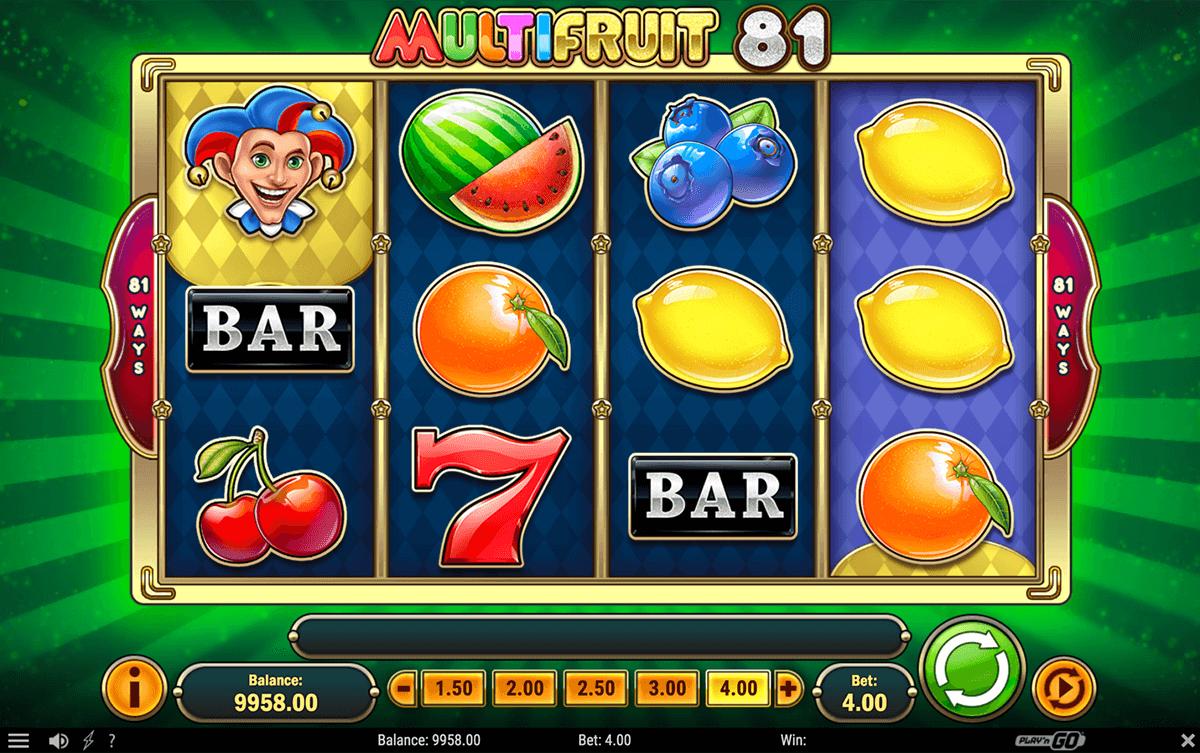 multifruit  playn go slot