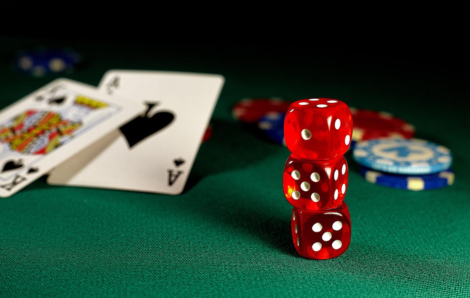 Gambling Casino Poker Table Card Game