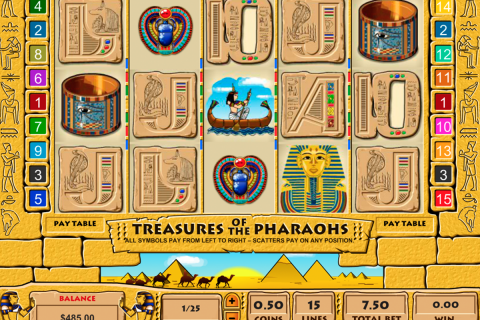 treasure of the pharaohs pragmatic slot