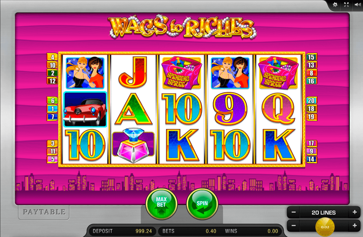 wags to riches merkur slot