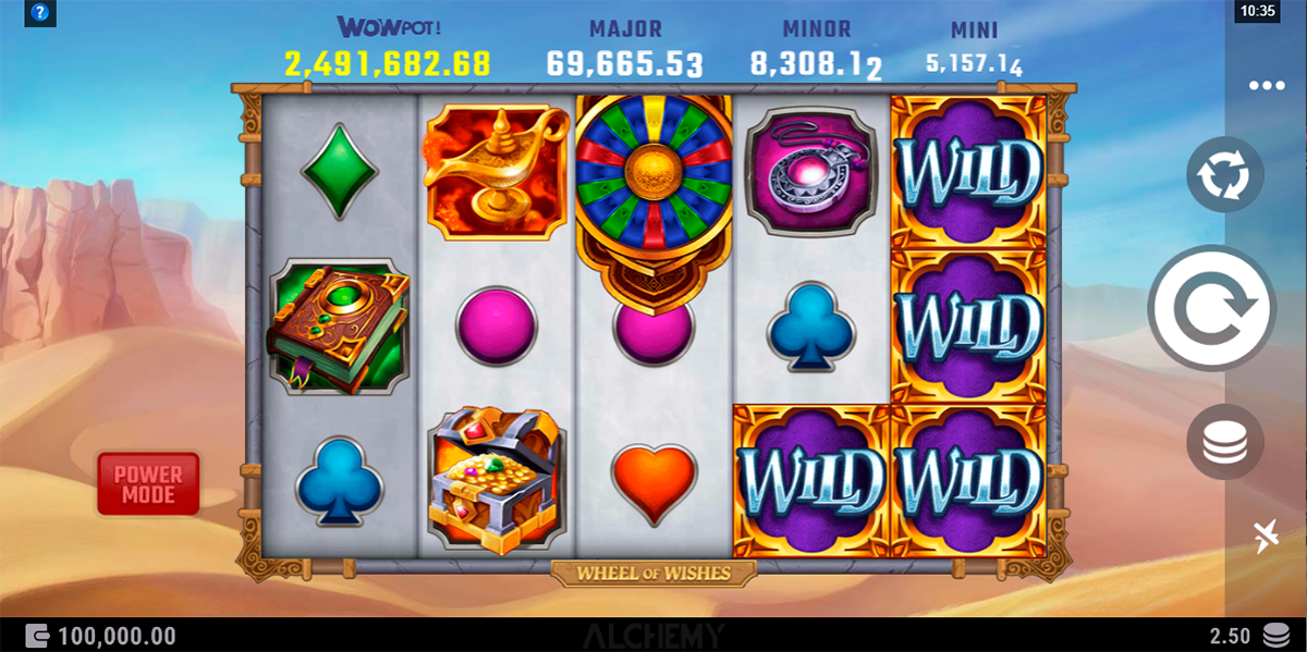wheel of wishes alchemy gaming slot