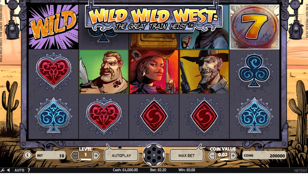 wild wild west the great train heist netent slot